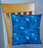 "Jaws - Large Handmade 16x16"" Accent or Throw Pillow"