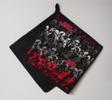 "Walking Dead Zombie Design - Handmade 9x9"" Pot Holders [ clone ]"