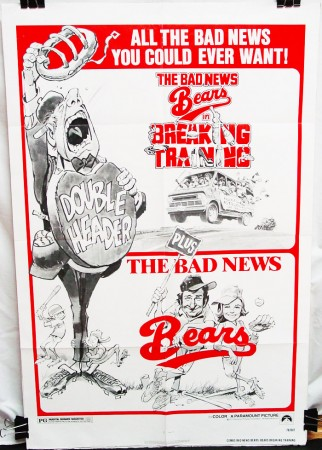 Double Feature Combo Poster: Bad News Bears (1977) & BNB: Breaking Training (1978)
