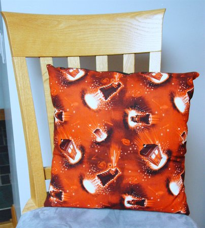 "Dr Who Dalek Design - Large Handmade 16x16"" Accent or Throw Pillow"