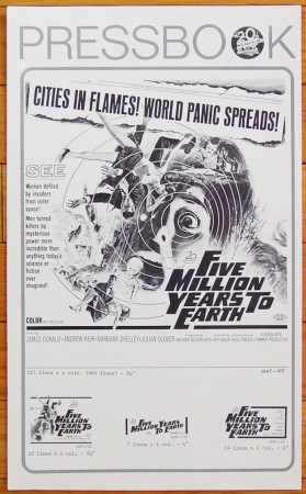 Five Million Years to Earth (1967)