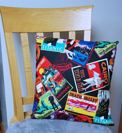 "Haunted Places - Large Handmade 16x16"" Accent or Throw Pillow"
