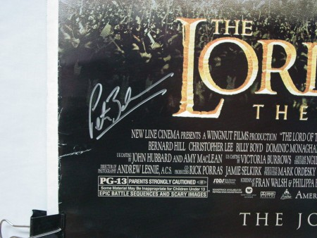Lord of the Rings: The Two Towers (2002) Signed by Peter Jackson