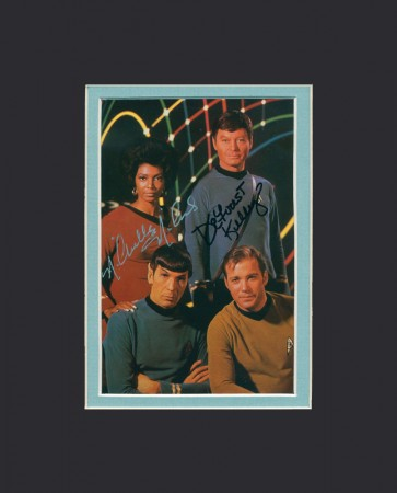 Star Trek 2-Signature Signed Postcard