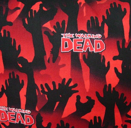 "Walking Dead Hands Design - Handmade 9x9"" Pot Holder"
