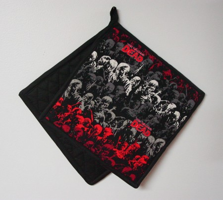 "Walking Dead Zombie Design - Handmade 9x9"" Pot Holder"