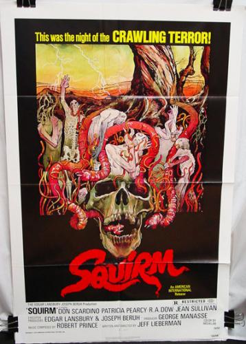 Squirm Poster in Very Good Condition