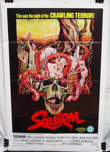 Squirm Poster in Good Displayed Condition