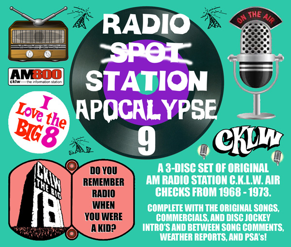 Radio Spot Apocalypse 9: Classic AM Radio Station CKLW 1968 to 1973
