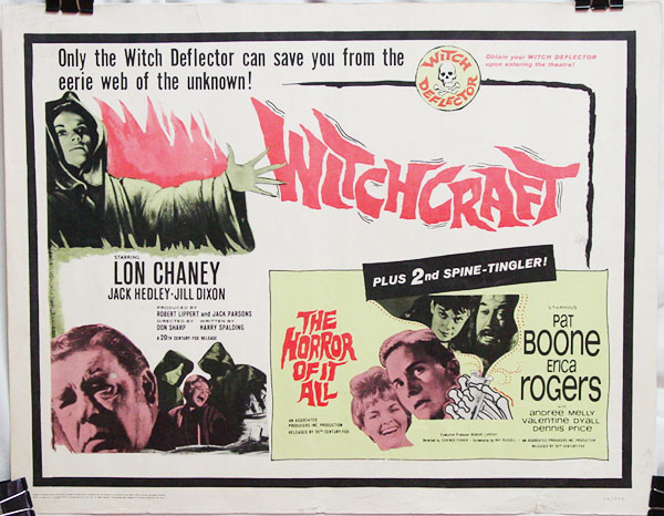 Double Feature Combo Half Sheet Poster: Witchcraft (1964) & The Horror of it All (1964)