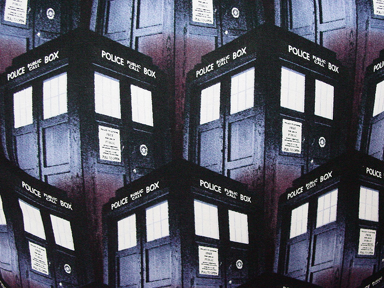 "Dr Who Tardis Design - Large Handmade 16x16"" Accent or Throw Pillow"