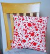 "Blood Splatter on White - Large Handmade 16x16"" Accent or Throw Pillow"