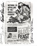 Blood Feast (1963) 4 Signature Photo