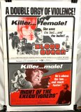 Double Feature Combo Poster: Blood Queen (1973) and The Night of the Executioners (1970)