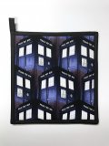 "Dr Who Tardis Design - Handmade 9x9"" Pot Holder"