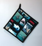 "Jaws Attack - Handmade 9x9"" Pot Holder"