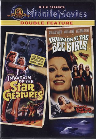 Double Feature: Invasion of the Star Creatures (1962) & Invasion of the Bee Girls (1973)
