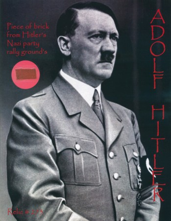 Adolph Hitler: Brick from Nazi Parade Grounds