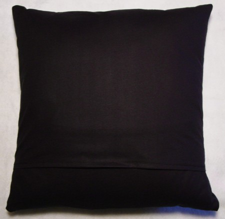 "Eyeballs on Black - Large Handmade 16x16"" Accent or Throw Pillow"