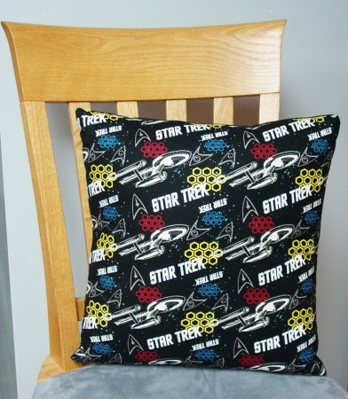 "Star Trek - Large Handmade 16x16"" Accent or Throw Pillow"
