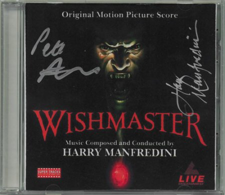 Wishmaster (1997) CD Soundtrack Signed